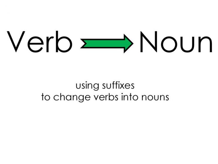 Có nhiều quy tắc để chuyển động từ sang danh từ trong tiếng Anh