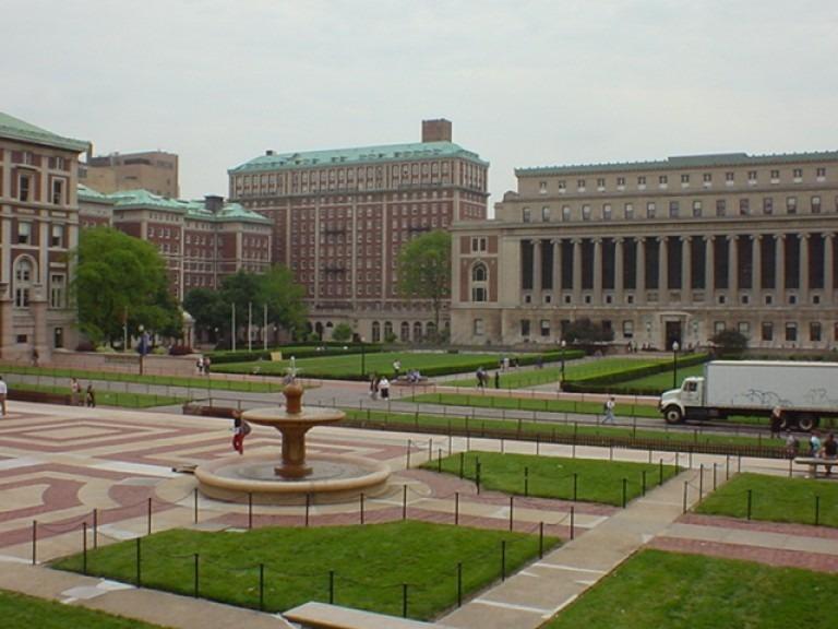 Khuôn viên trường đại học Columbia rộng rãi