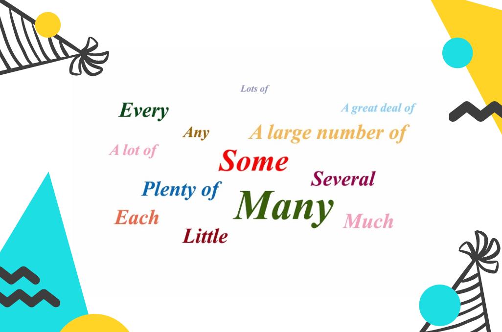 Từ chỉ số lượng trong tiếng Anh – Bài tập lượng từ có đáp án