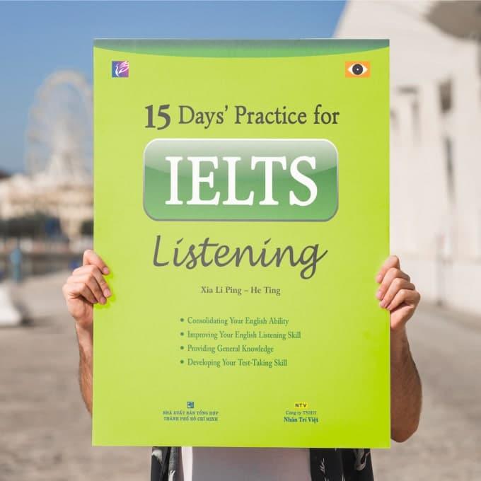 15 days practice for IELTS listening pdf download - 15 days practice for IELTS reading bản đẹp