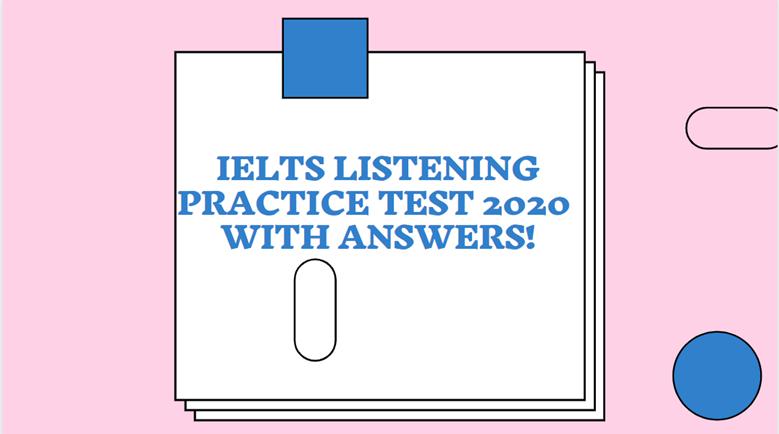 IELTS listening practice test