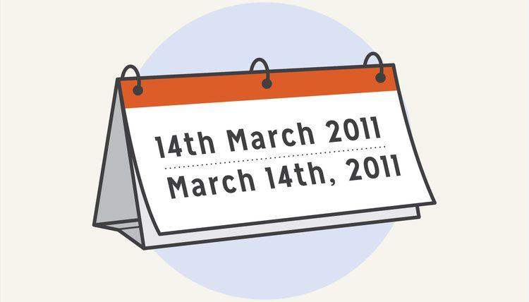 Cách đọc và viết thứ ngày tháng năm trong tiếng Anh - Anh và Anh - Mỹ