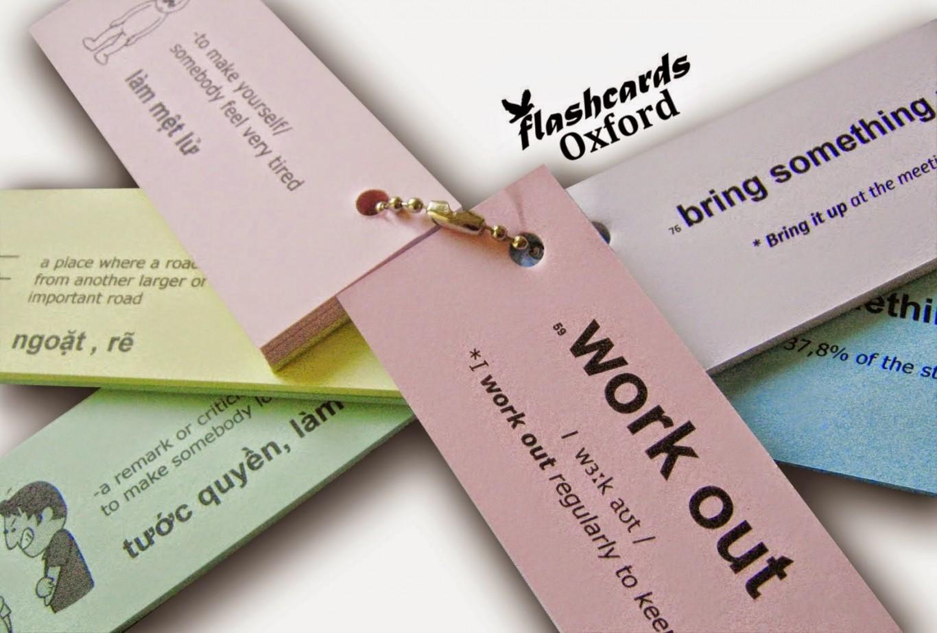 Dùng flashcard để ghi nhớ từ mới