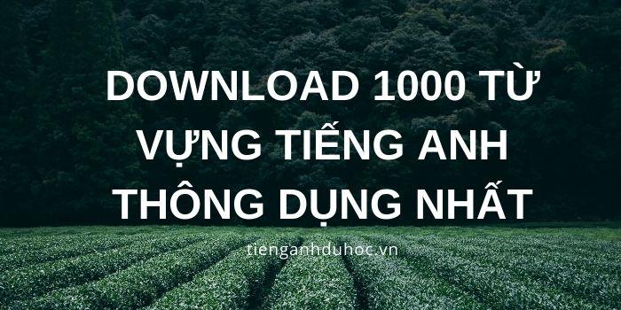 Download 1000 từ vựng tiếng Anh