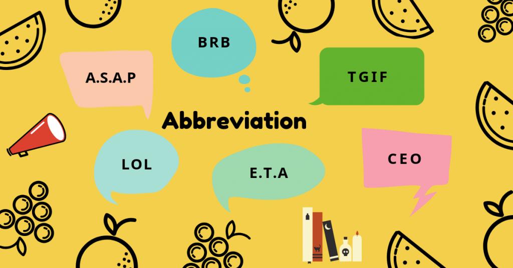 Một số từ viết tắt trong tiếng Anh