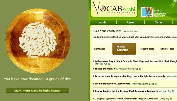 Vocabshushi - Website học từ vựng thông dụng hàng ngày