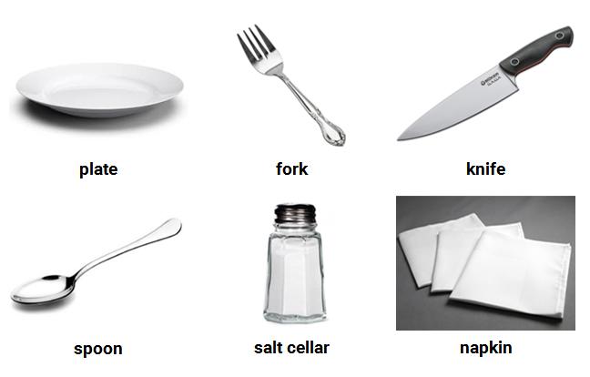 Từ vựng bếp về dụng cụ ăn uống